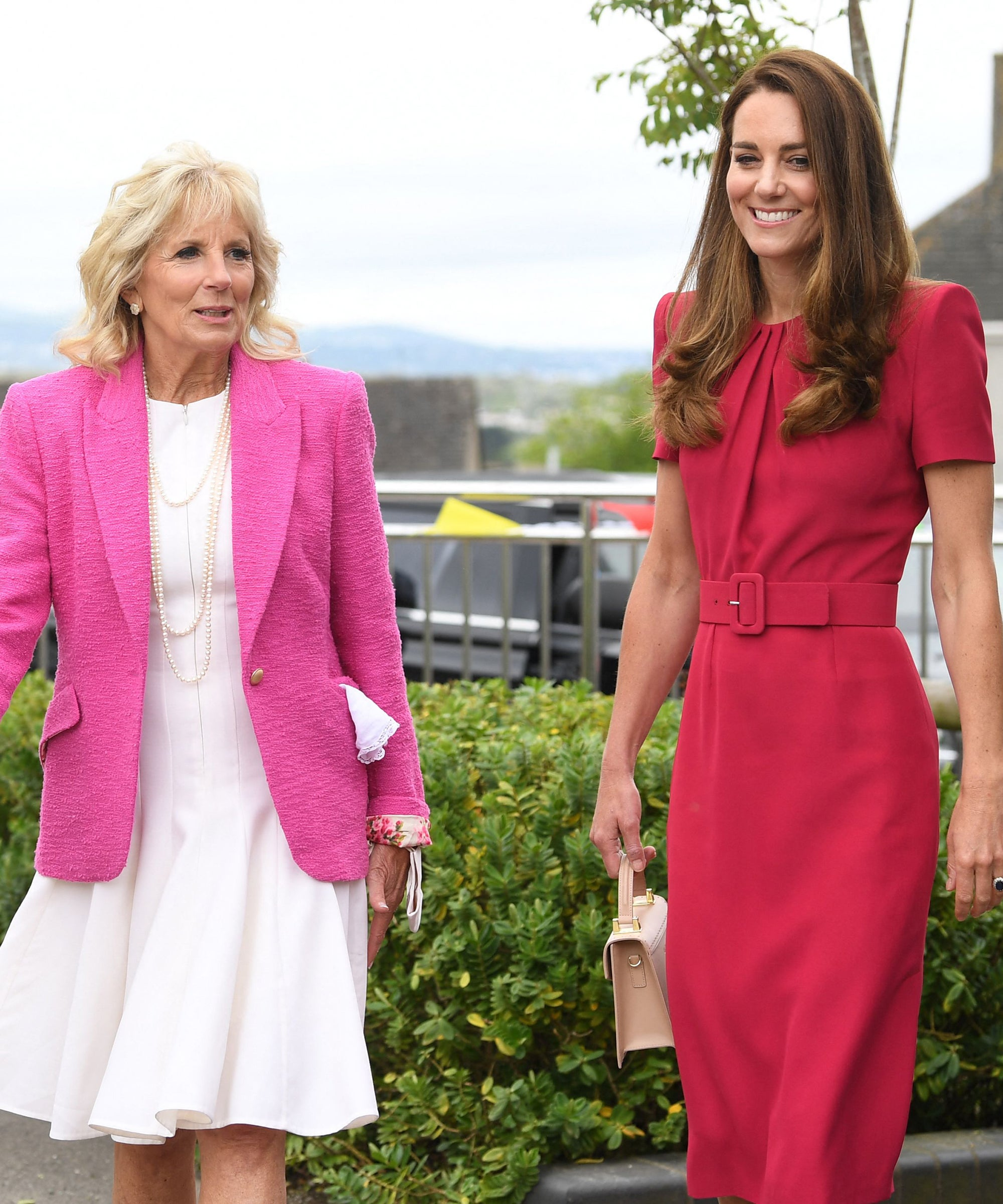 Jill Biden And Kate Middleton Matched In Pink For Their First Meeting
