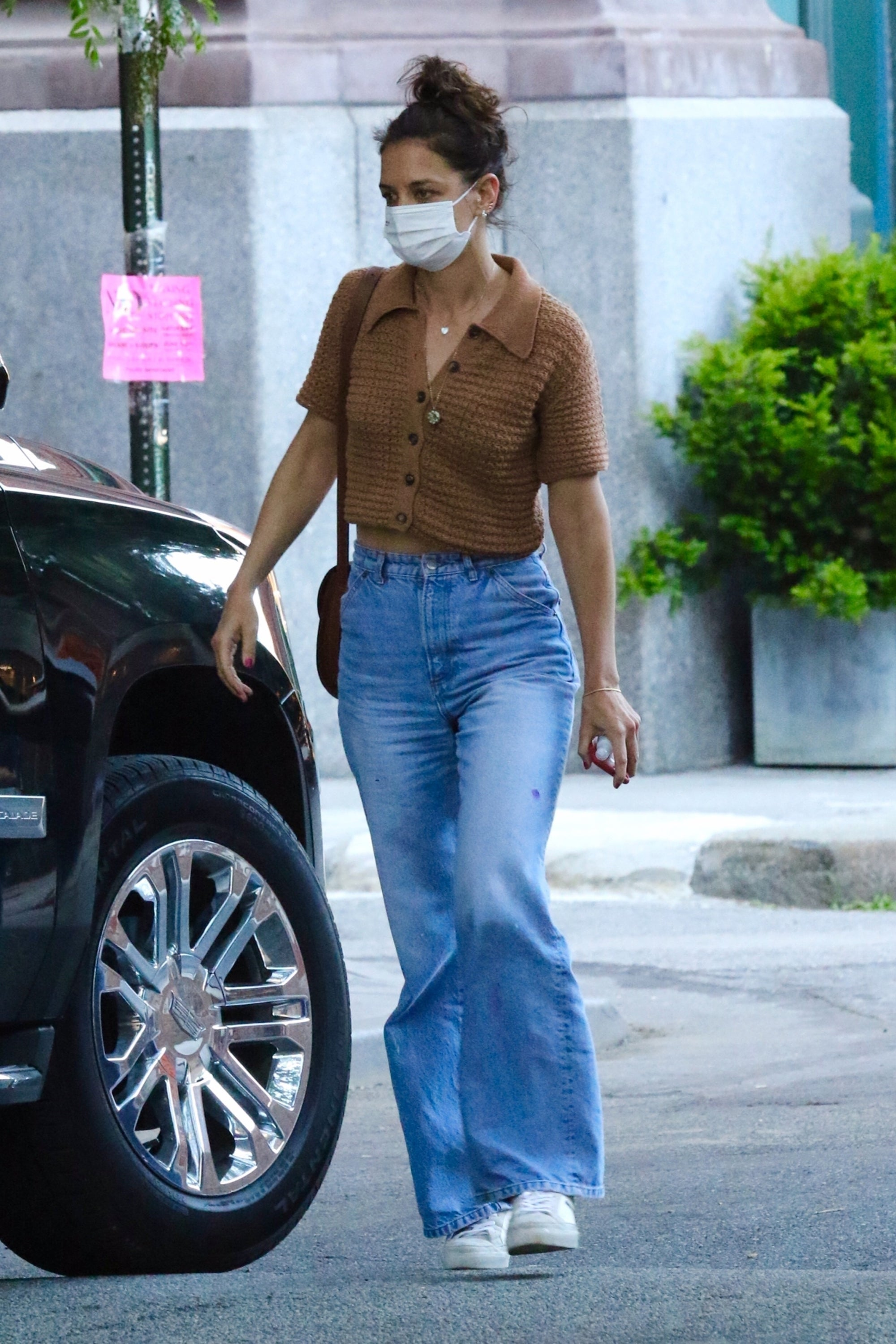 Katie Holmes Wore A $50 Crochet Top & It's Still Available