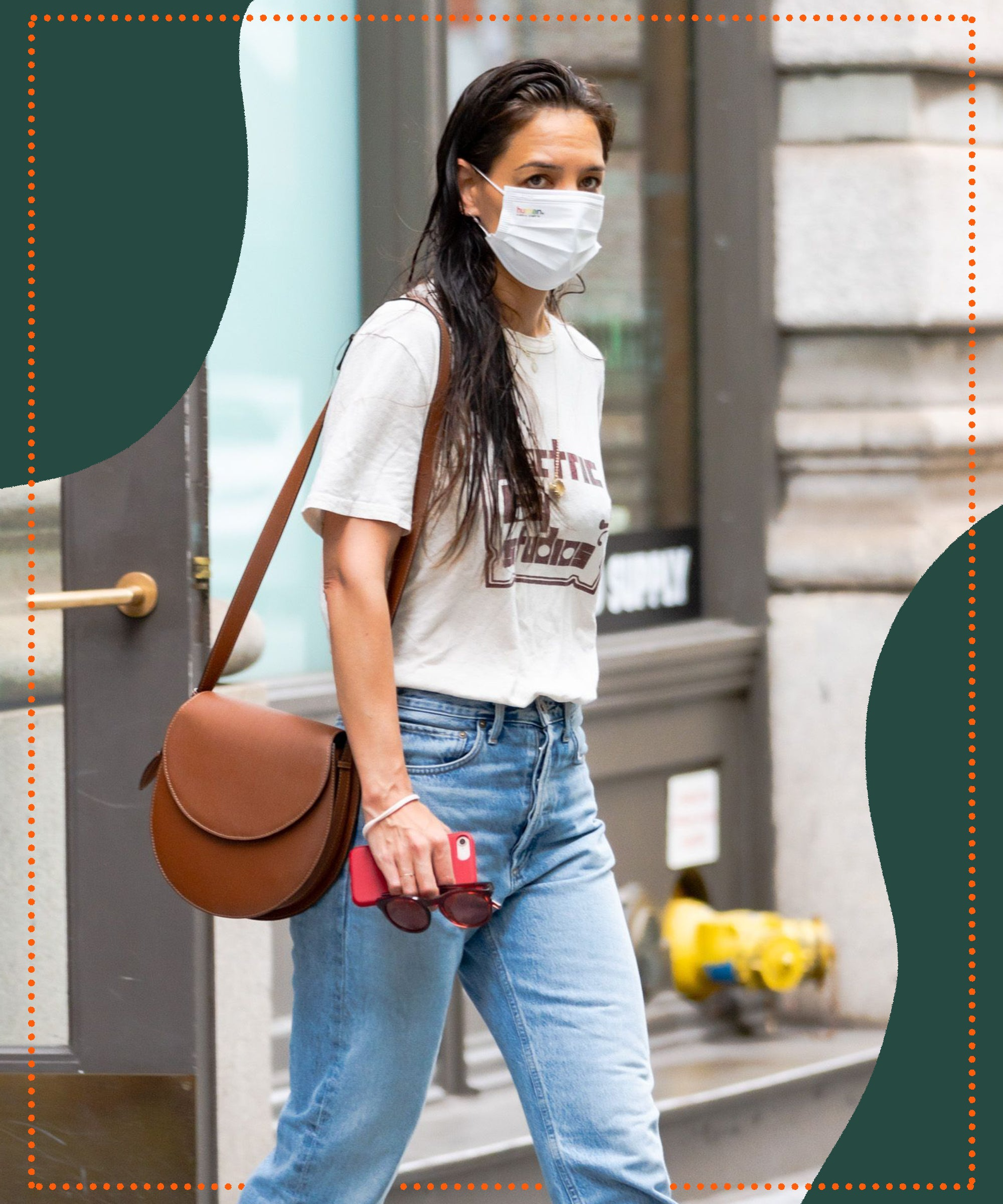 Katie Holmes Wore This Anti-Skinny Jeans Trend With Her Go-To Loafers