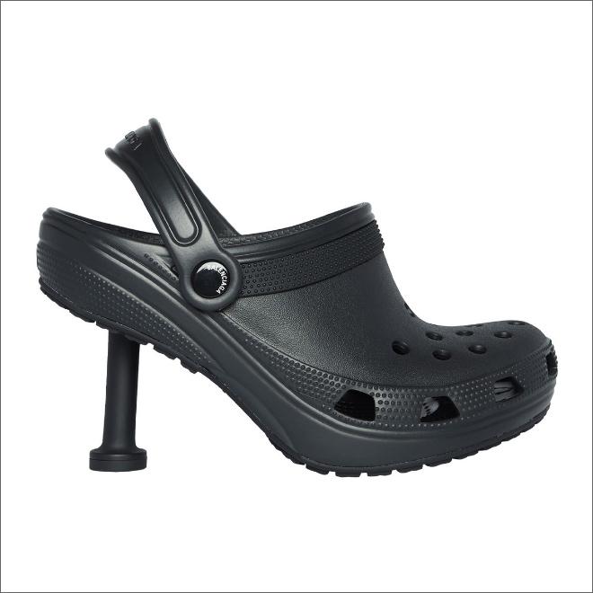 High heel Crocs.