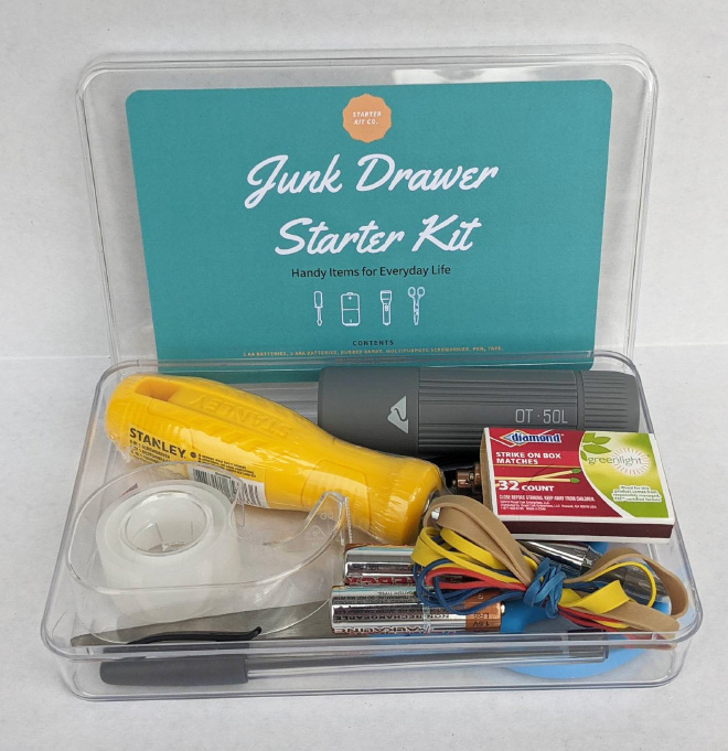 Junk Drawer Starter Kit Makes For a Perfect Housewarming Gift