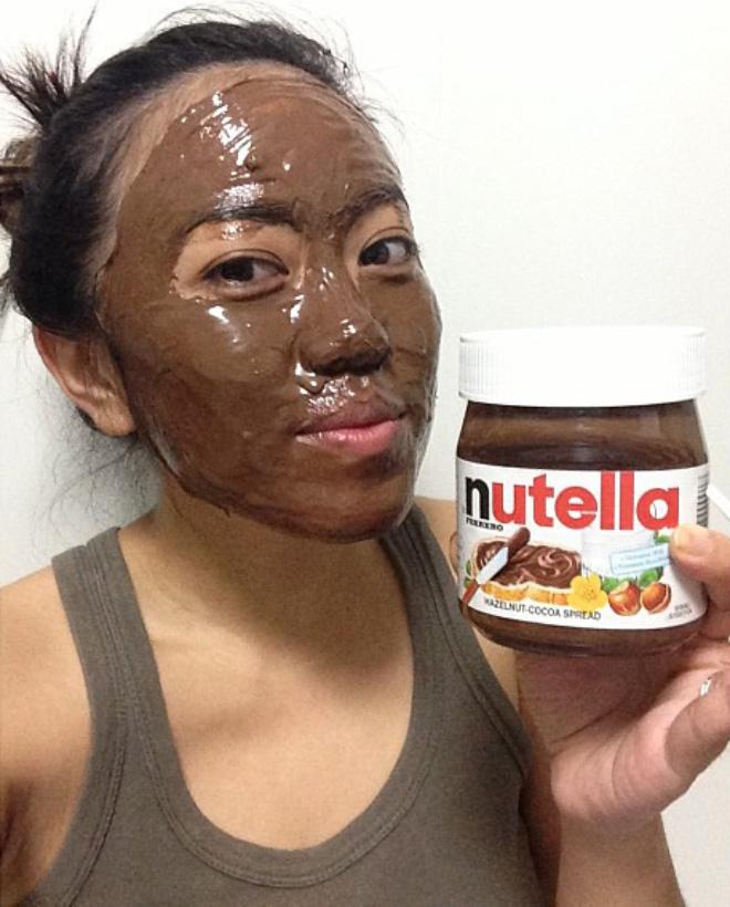 Nutella face.