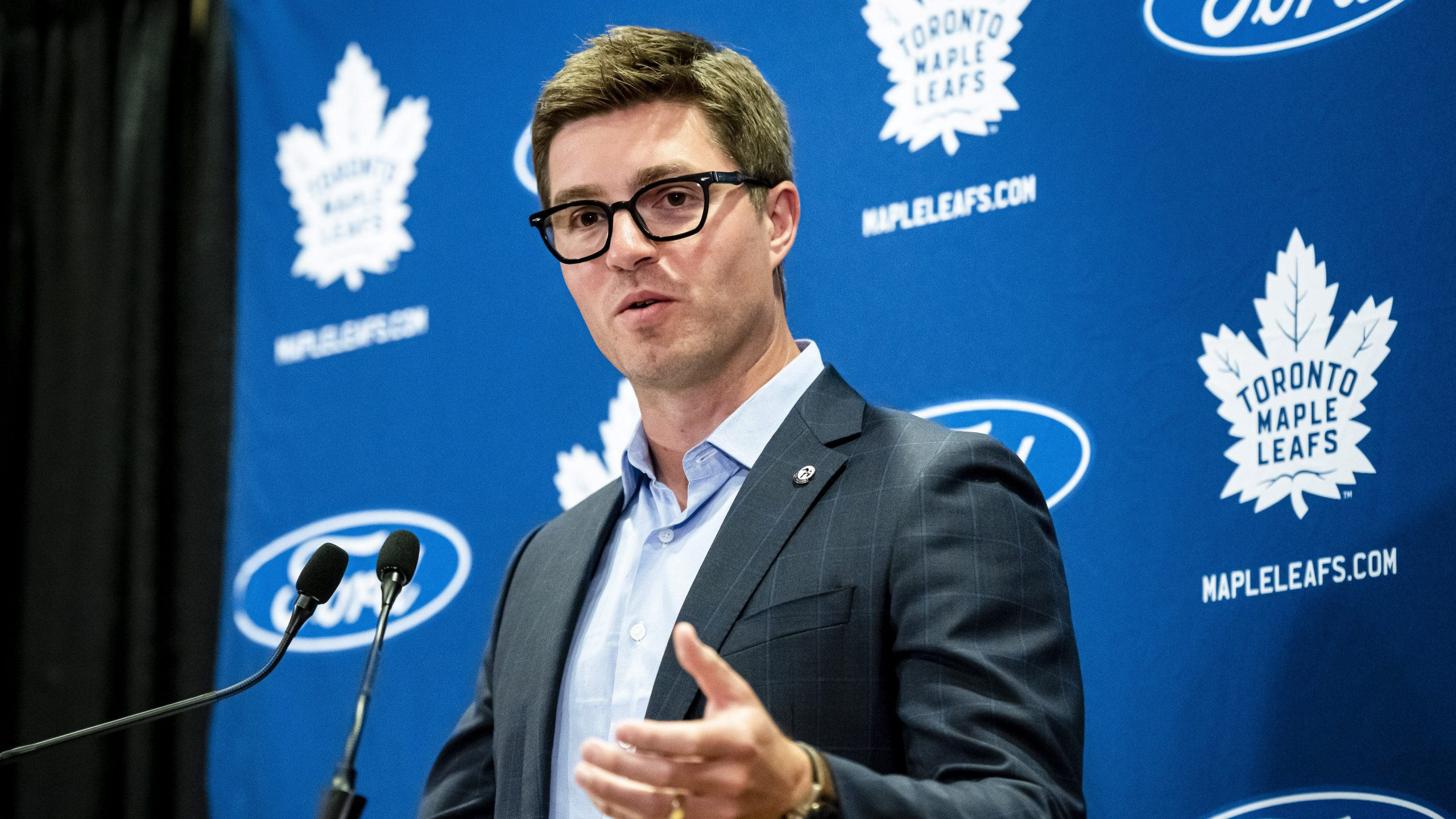 Watch Live: Maple Leafs GM Kyle Dubas speaks as training camp opens