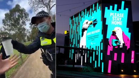 'Coffee cup Gestapo': Australian cop slammed for checking man's beverage to verify his excuse for not wearing Covid-19 mask