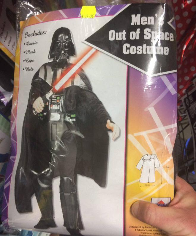 Knock-off Halloween costume.