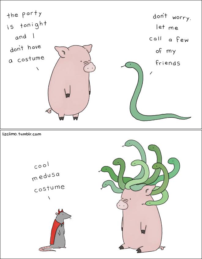 Halloween cartoon by Liz Climo.