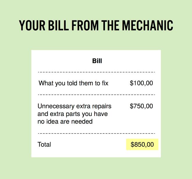 Service bill.
