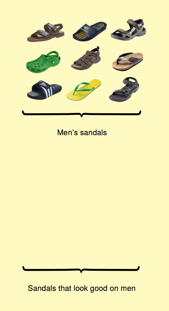 Men's sandals.