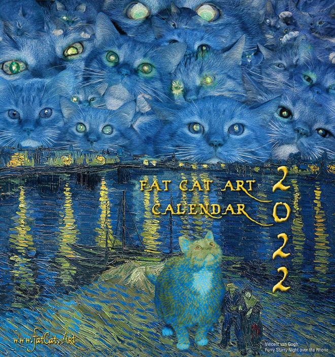 2022 Fat Cat Art Calendar Is Here!