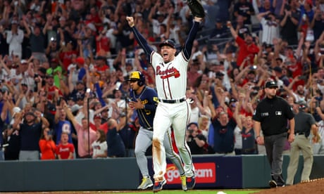 Braves and Astros advance in MLB playoffs as Giants-Dodgers heads for decider