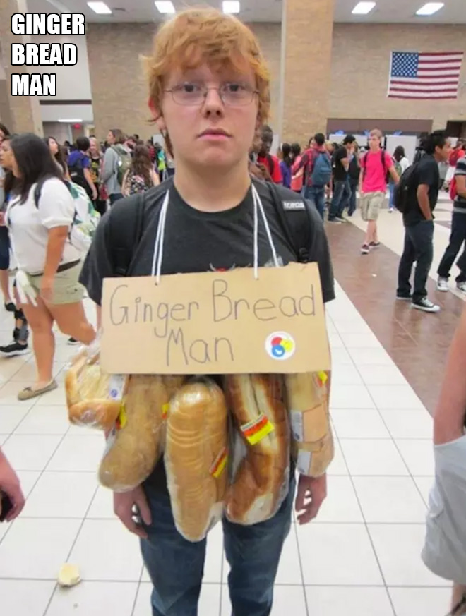 Halloween costume for lazy people.
