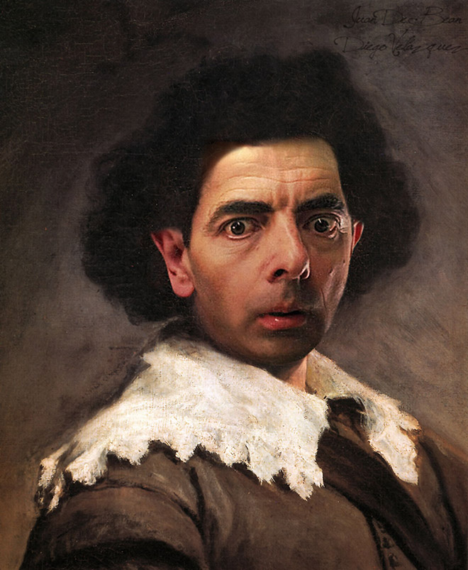 Classic painting improved with Mr. Bean.