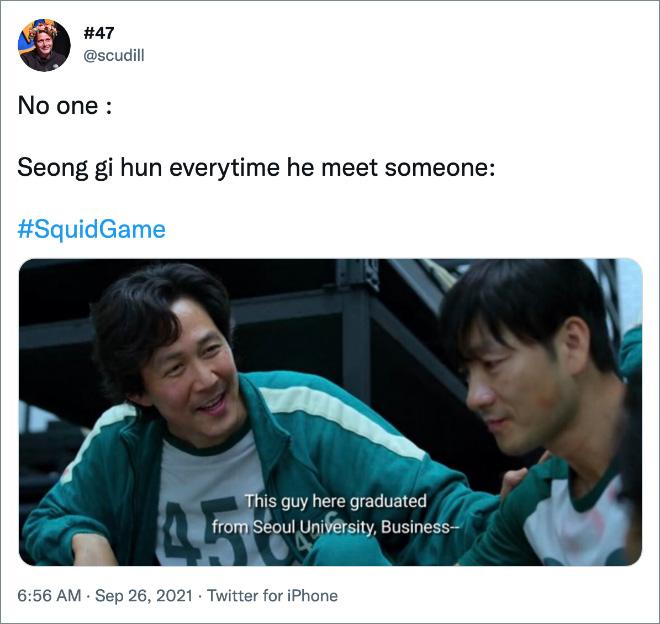 Seong gi hun everytime he meet someone: